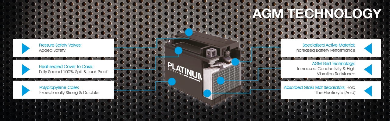 Platinum Motorcycle AGM battery