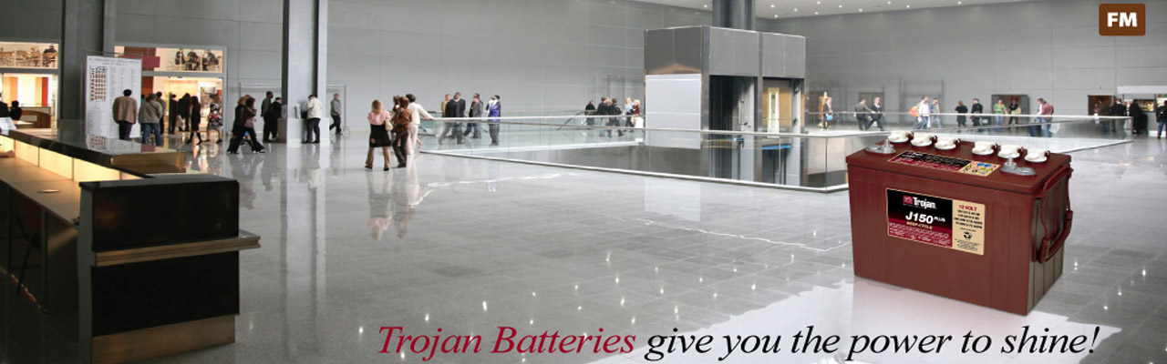 Deep cycle batteries for floor cleaners & scrubbers - Trojan