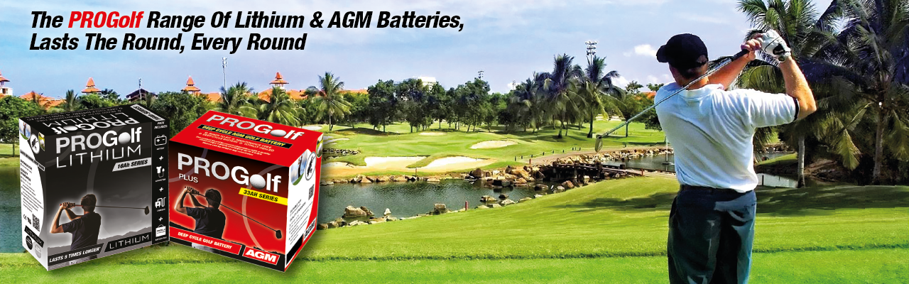 PROGolf AGM & Lithium Golf Trolley Batteries