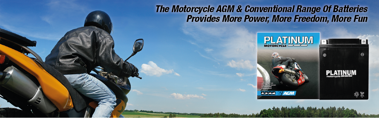 Platinum Conventional & AGM Motorcycle Batteries