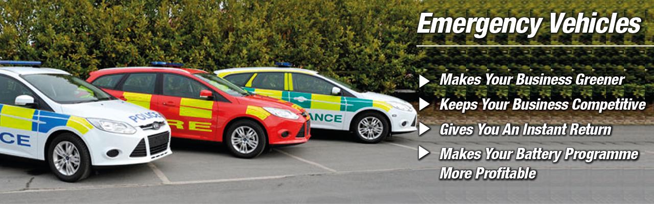 Emergency Service Vehicle Batteries