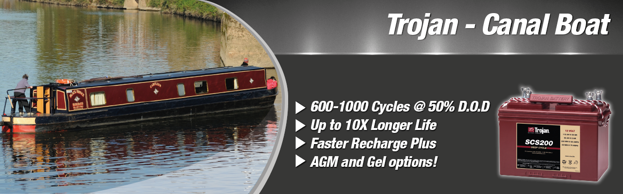 Cyclic & Starter Power Canal Boat Batteries